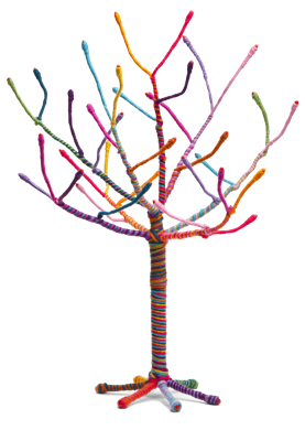 This Yarn Tree Kit Is A Fun Artsy Crafty Way To Create A Place For  Necklaces, Bracelets And Earrings To Hang Out. Kit Includes 18u201d Tall  Bendable Wire Tree ...